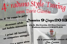 4° raduno STYLE TUNING mem. Dario Giantin - Due Carrare (PD)